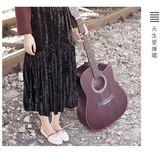 吉他吉他民謠吉他40寸41寸吉他初學者學生女男木吉他jita樂器QM『美優小屋』