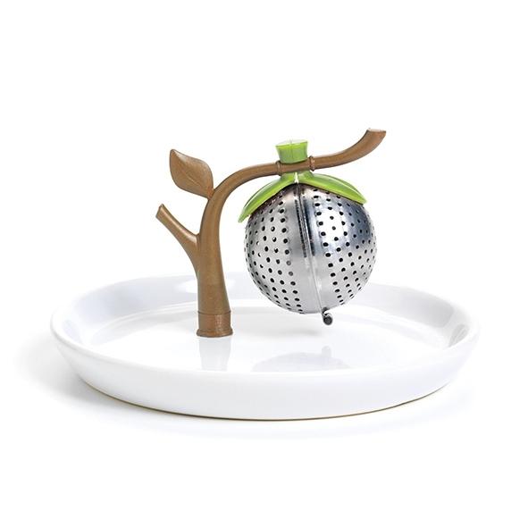 茶樹造型濾茶杯蓋組