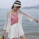 (N-447)小披肩薄外套女蕾絲鈎花鏤空針織開衫顯瘦防曬小罩衫