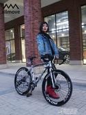 死飛變速自行車彎把肌肉實心胎活飛網紅單車雙碟剎公路賽學生男女 原本良品