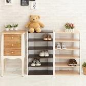 鞋櫃 Loxin日系五層木質鞋櫃 鞋架 置物架 木櫃 置物櫃 鞋子收納 ikloo【BG1421】