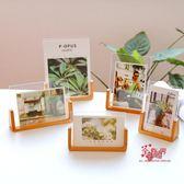 壓克力相框 韓式簡約U型櫸木相框創意影樓婚紗照片框壓克力像框兒童實木畫框 1色