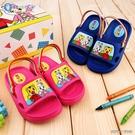 童鞋城堡- 兒童後帶拖鞋 輕量拖 巧虎 TR0326-藍/桃 (共二色)