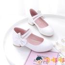 兒童高跟單鞋公主走秀軟底表演出皮鞋禮服女童鞋子【淘嘟嘟】