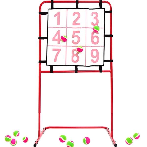 棒球九宮格投球黏靶架(送黏靶球)9宮格棒壘球標靶.飛鏢靶投手練習機.投擲瞄準訓練目標兒童玩具