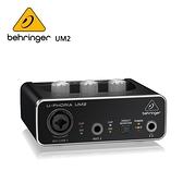 BEHRINGER UM2 錄音介面 (帶XENYX麥克風前置放大器 2x2 USB音頻接口)
