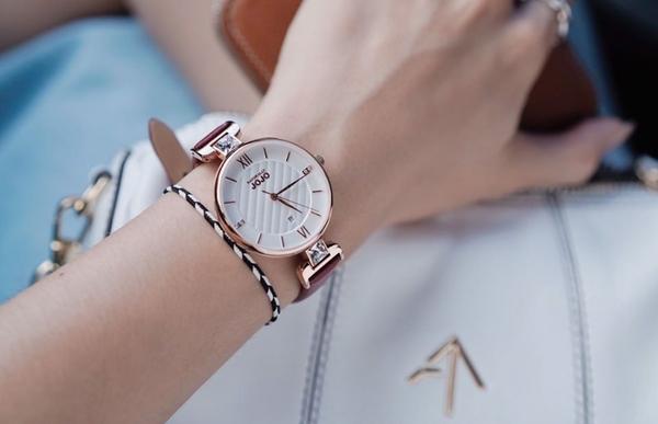 NATURALLY JOJO 玫瑰金格紋 手錶 JO96972-13R 情人節/34mm