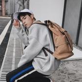韓版男士背包休閒雙肩包男時尚帆布男包旅行包電腦包潮流學生書包