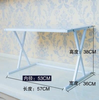 廚房落地收納架調料儲物架子微波爐置物架【X型鋼板款】