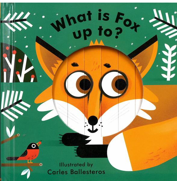 【麥克書店】LITTLE FACE WHAT IS FOX UP TO/動植物幼兒英文啟蒙操作拉拉硬頁書《表情遊戲書》