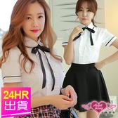 角色扮演任一件六折  M.XL號可選 韓系學生襯衫短裙制服 角色服 聖誕節 天使甜心Angel Honey