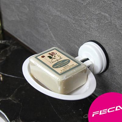 FECA 非卡 無痕強力吸盤  橢圓皂盤(白)
