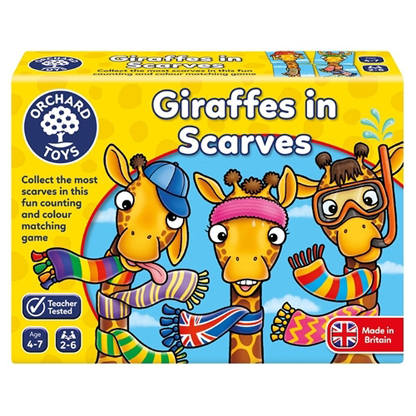 【英國 Orchard Toys】兒童桌遊-配對遊戲 長頸鹿圍多多 OT-070 Giraffes in Scarves