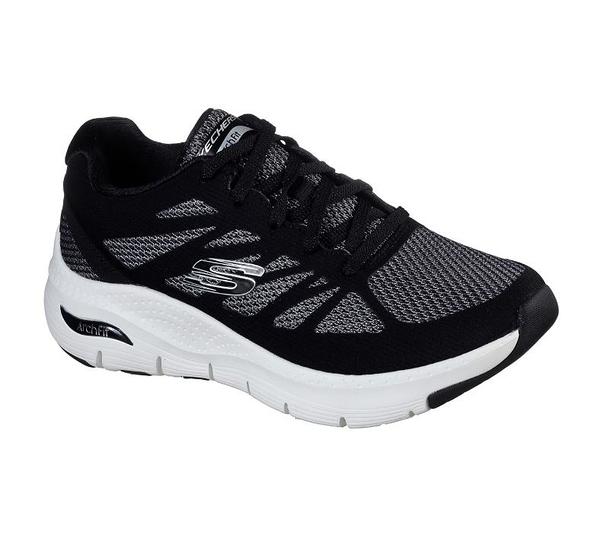 【胖媛的店】SKECHERS ARCH FIT 女 運動鞋 149055BKW