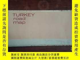 二手書博民逛書店turkey罕見road map 外文地圖Y16306 turk
