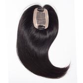 假髮片(真髮)-全手織長直髮30cm頭頂遮蓋女假髮73vm24[時尚巴黎]