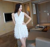 【好康618】2018春夏新款時尚無袖打底顯瘦禮服連身裙