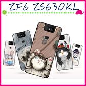 Asus ZenFone6 ZS630KL 華碩6 時尚彩繪手機殼 卡通磨砂保護套 黑邊手機套 清新可愛塗鴉背蓋 保護殼