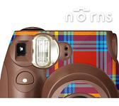 Norns MINI7S 專用FUJIFILM日本富士原廠拍立得相機機身貼紙【Choco tartan check款】Norns