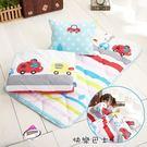 【快樂巴士】 吸溼排汗 睡墊 涼被 童枕3件組 可當幼稚園睡袋 兒童午睡