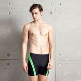★奧可那★ 型男綠條紋五分泳褲