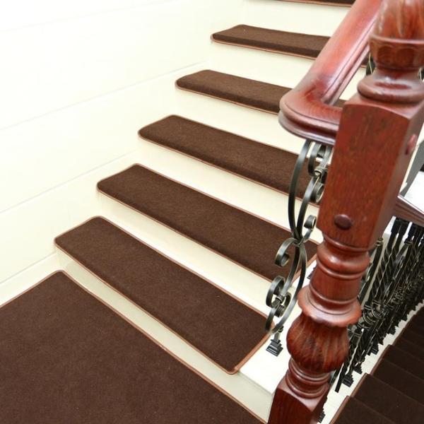 實木樓梯踏步墊 免膠自黏腳墊 樓梯地毯防滑墊地墊純黑色樓梯墊ATF 艾瑞斯居家生活
