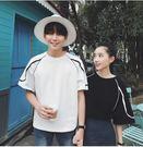 韓範夏寬鬆顯瘦條紋T恤上衣LVV444【kikikoko】