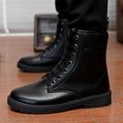 男鞋春秋馬丁靴軍靴短靴高筒單靴子保暖沙漠靴皮靴工裝靴加絨棉鞋 蘿莉小腳丫