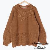 「Winter」立體小花刺繡針織上衣 (提醒 SM2僅單一尺寸) - Sm2