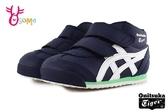 Asics學步鞋 機能鞋 高筒學步鞋 嬰兒鞋 高筒 tiger系列 皮革 童運動鞋 寶寶鞋 A9122#藍色
