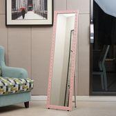 實木歐式穿衣鏡試衣鏡服裝店鏡子全身鏡落地鏡壁掛鏡兩用特價igo 3c優購