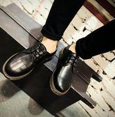 ~找到自己~ 馬丁暗黑真皮革靴子馬丁鞋布洛克 懶人 方便穿搭 鞋 皮鞋