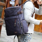 牧之逸雙肩包男士帆布旅行背包大容量戶外旅游包時尚潮流學生書包 夢幻小鎮