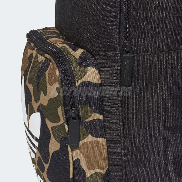 adidas 後背包 Originals Classic Camouflage Backpack 黑 迷彩 三葉草 logo 男女款 【ACS】 CD6121