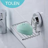 Tolen 強力無痕吸盤-Hyco吸哈扣-不鏽鋼肥皂架