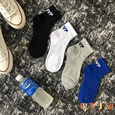 4雙裝 嘻哈運動滑板襪子男女中筒襪子街頭短筒情侶【倪醬小舖】