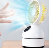USB冷風機 簡約 F4噴霧制冷USB小風扇帶加濕器靜音辦公室桌面桌上電扇電風扇小型空調 CY