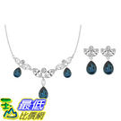 [COSCO代購] Swarovski 藍色水晶項鍊耳環組 _W106806