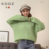 東京著衣【KODZ】俏皮樂章圓領糖果色系寬鬆上衣/毛衣(191973)