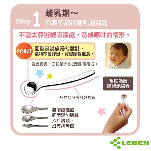 【奇買親子購物網】LEBEN 日製不鏽鋼離乳期湯匙