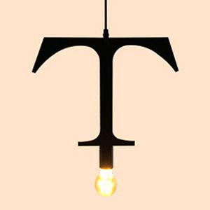 HONEY COMB 復古風英文字母吊燈 T版 TA0079