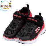 《布布童鞋》SKECHERS_FLEX_透氣網布黑紅兒童機能運動鞋(17~23.5公分) [ N0F43LD ]