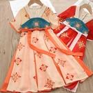 女童洋裝夏2021夏季新款中國風改良漢服...