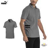 Puma Life 灰 男款 短袖 POLO衫 素色 上衣 運動 法拉利 健身 高爾夫 排汗 棉質 透氣 短袖上衣 57668503
