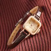 流行女錶前任3林佳同款方形女表聚利時學生皮帶復古小方糖手錶女 時尚新品