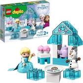 LEGO 樂高 DUPLO迪士尼《冰雪奇緣》玩具 包括艾爾莎和奧拉夫的茶話會10920(17件)