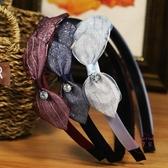 糖果公主髮飾布藝蕾絲頭箍蝴蝶結髮箍正韓簡約寬邊水鉆髮卡頭飾品 【快速出貨】
