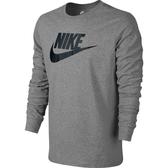 Nike Tee-Futura Icon LS [708467-063] 男 休閒 長袖 上衣 純棉 大學T淺灰