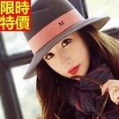 爵士帽小禮帽-復古遮陽毛呢字母正韓優雅女帽子4色67e4【巴黎精品】