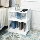 白色小床頭櫃簡約現代臥室迷你收納櫃簡易歐式抽屜組裝床邊櫃置物【全館88折起】